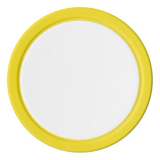 Clay Pokerchips, Gelb Einfarbige Kante