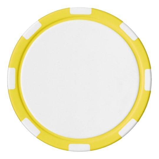 Clay Pokerchips, Gelb Gestreifte Kante