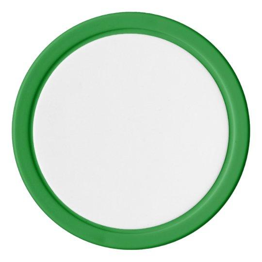 Clay Pokerchips, Grün Einfarbige Kante