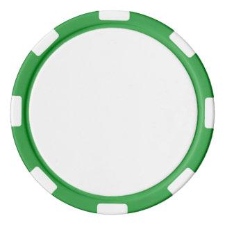 Poker-Chips mit grünem gestreiftem Rand Poker Chips Set