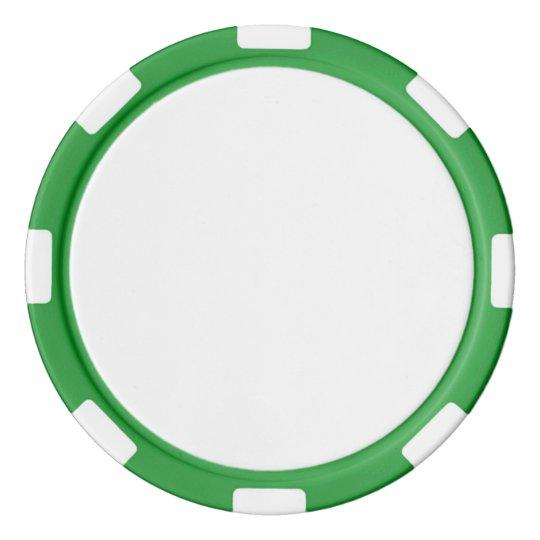 Clay Pokerchips, Grün Gestreifte Kante