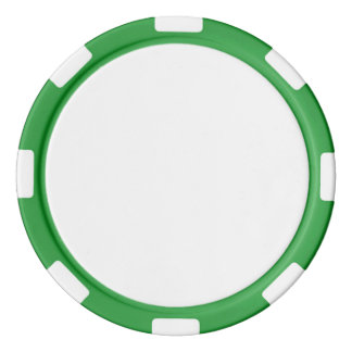 Poker-Chips mit grünem gestreiftem Rand Pokerchips