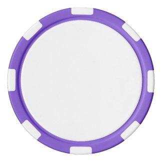 Poker-Chips mit lila gestreiftem Rand Poker Chip Sets