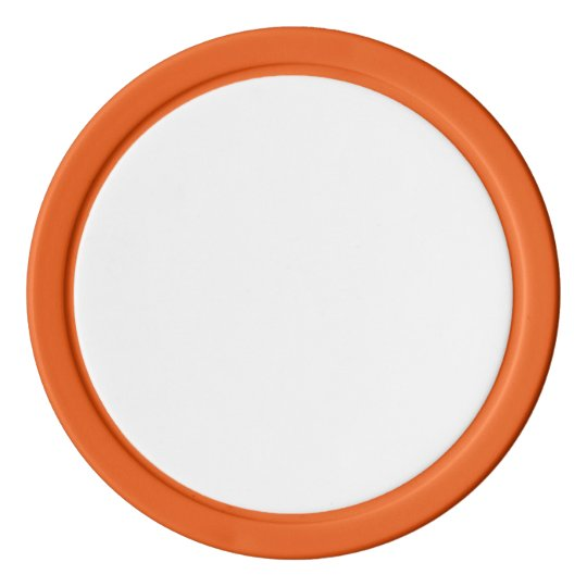 Clay Pokerchips, Orange Einfarbige Kante