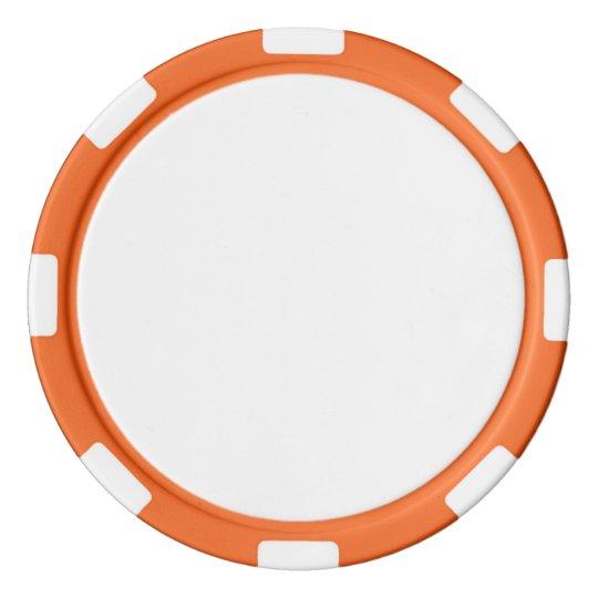 Clay Pokerchips, Orange Gestreifte Kante