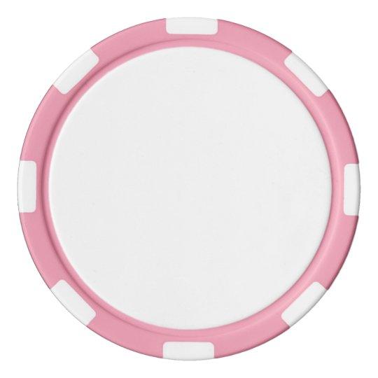 Clay Pokerchips, Pink Gestreifte Kante