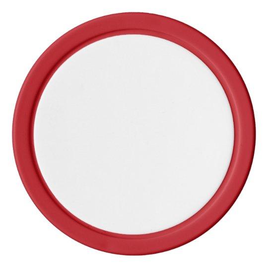 Clay Pokerchips, Rot  Einfarbige Kante