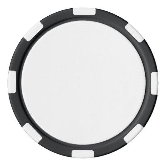 Clay Pokerchips, Schwarz Gestreifte Kante