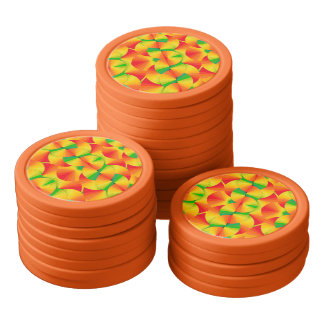 Poker-Chipset - Zitrusfrucht-Fans Poker Chip Set