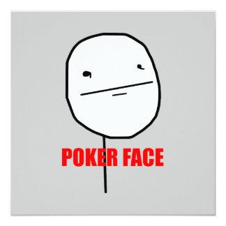 Poker-Gesicht Meme Quadratische 13,3 Cm Einladungskarte