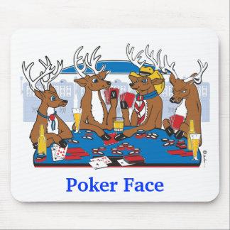 Poker-Gesichts-Rotwild Mousepads