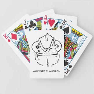 Poker-Gesichts-ungeschicktes Chamäleon-Spielkarten Bicycle Spielkarten