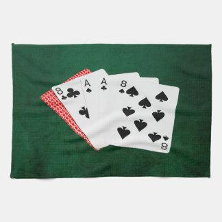 Poker-Hände - die Hand des toten Mannes Geschirrtuch