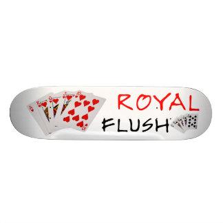 Poker-Hände - königliches Erröten Personalisiertes Skateboarddeck