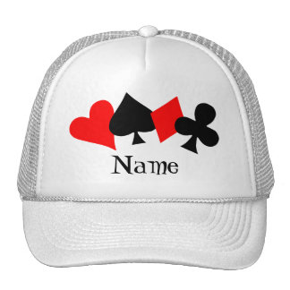 Poker-Hut-Schablone Baseballmütze