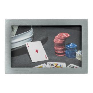 Poker kardiert Gangsterhut Rechteckige Gürtelschnalle
