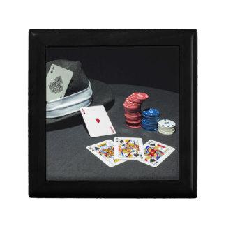 Poker kardiert Gangsterhut Schmuckschachtel