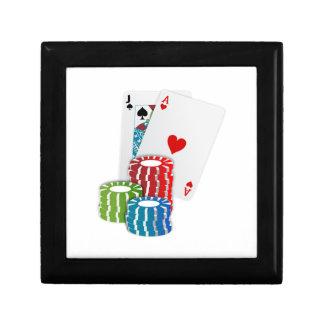 Poker-Karten und Chips Erinnerungskiste