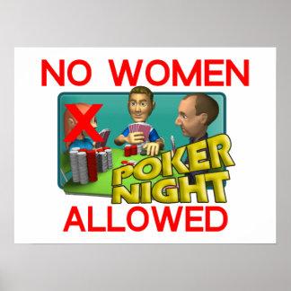 Poker keine Frauen Poster