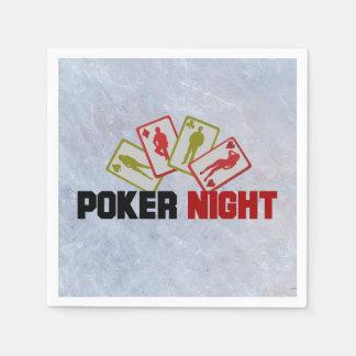 Poker-Nacht mit Spielkarten Papierserviette