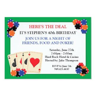 Poker-Party Einladung