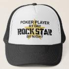 Poker-Spieler-Felsen-Stern bis zum Nacht Truckerkappe