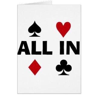 Poker-Süchtiger Karte