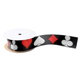 Poker-Symbole Satinband