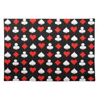 Poker-Symbole Stofftischset