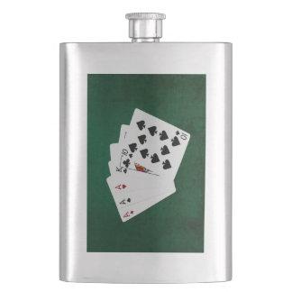 Poker übergibt - drei einer Art - As Flachmann