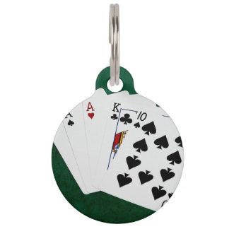 Poker übergibt - drei einer Art - As Tiermarke
