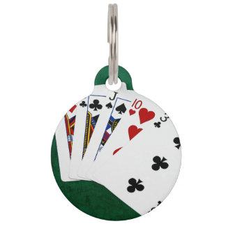 Poker übergibt - drei einer Art - Jack Haustiermarke