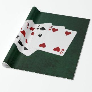 Poker übergibt - drei einer Art - neun Geschenkpapier