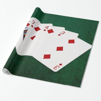 Poker übergibt - eben - Diamant-Anzug Geschenkpapier