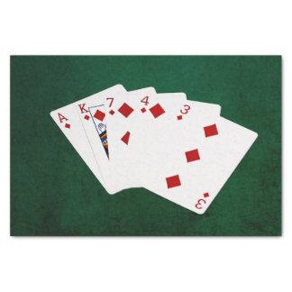 Poker übergibt - eben - Diamant-Anzug Seidenpapier