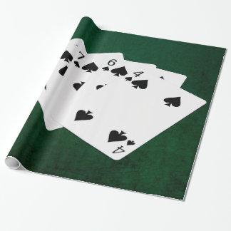 Poker übergibt - eben - Spaten-Anzug Geschenkpapier