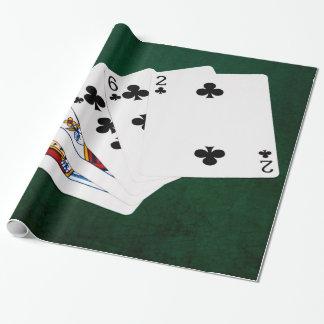 Poker übergibt - eben - Verein-Anzug Geschenkpapier