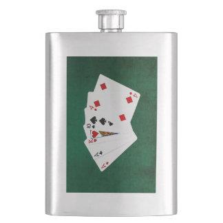 Poker übergibt - ein Paar - As Flachmann