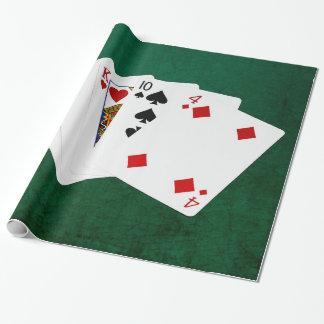 Poker übergibt - ein Paar - As Geschenkpapier