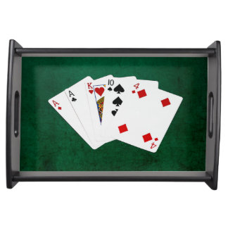 Poker übergibt - ein Paar - As Tablett
