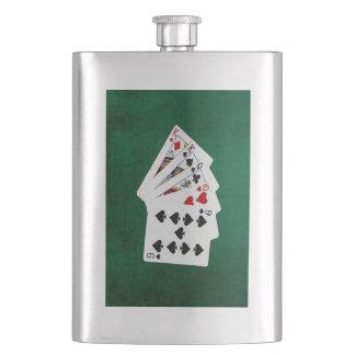 Poker übergibt - ein Paar - König Flachmann