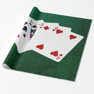 Poker übergibt - ein Paar - zehn Geschenkpapier