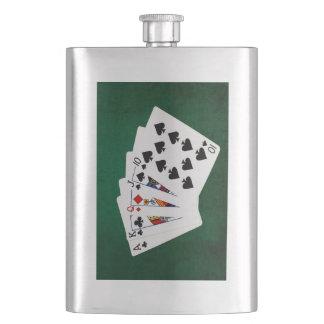 Poker übergibt - gerade - As bis zehn Flachmann