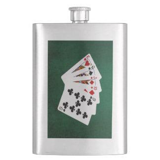 Poker übergibt - gerade - König To neun Flachmann