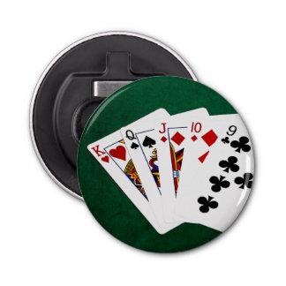 Poker übergibt - gerade - König To neun Runder Flaschenöffner