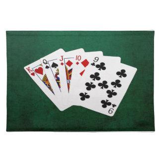 Poker übergibt - gerade - König To neun Tischset