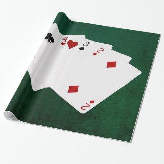 Poker übergibt - gerade - sechs bis zwei geschenkpapier