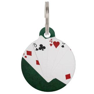 Poker übergibt - gerade - sechs bis zwei haustiermarke