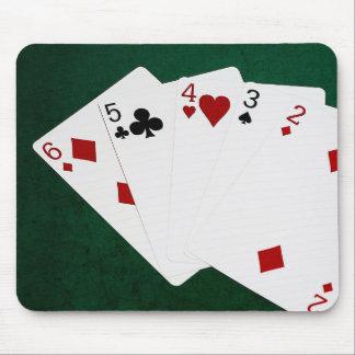 Poker übergibt - gerade - sechs bis zwei mauspad