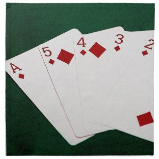 Poker übergibt - gerades Erröten - Diamant-Anzug Serviette